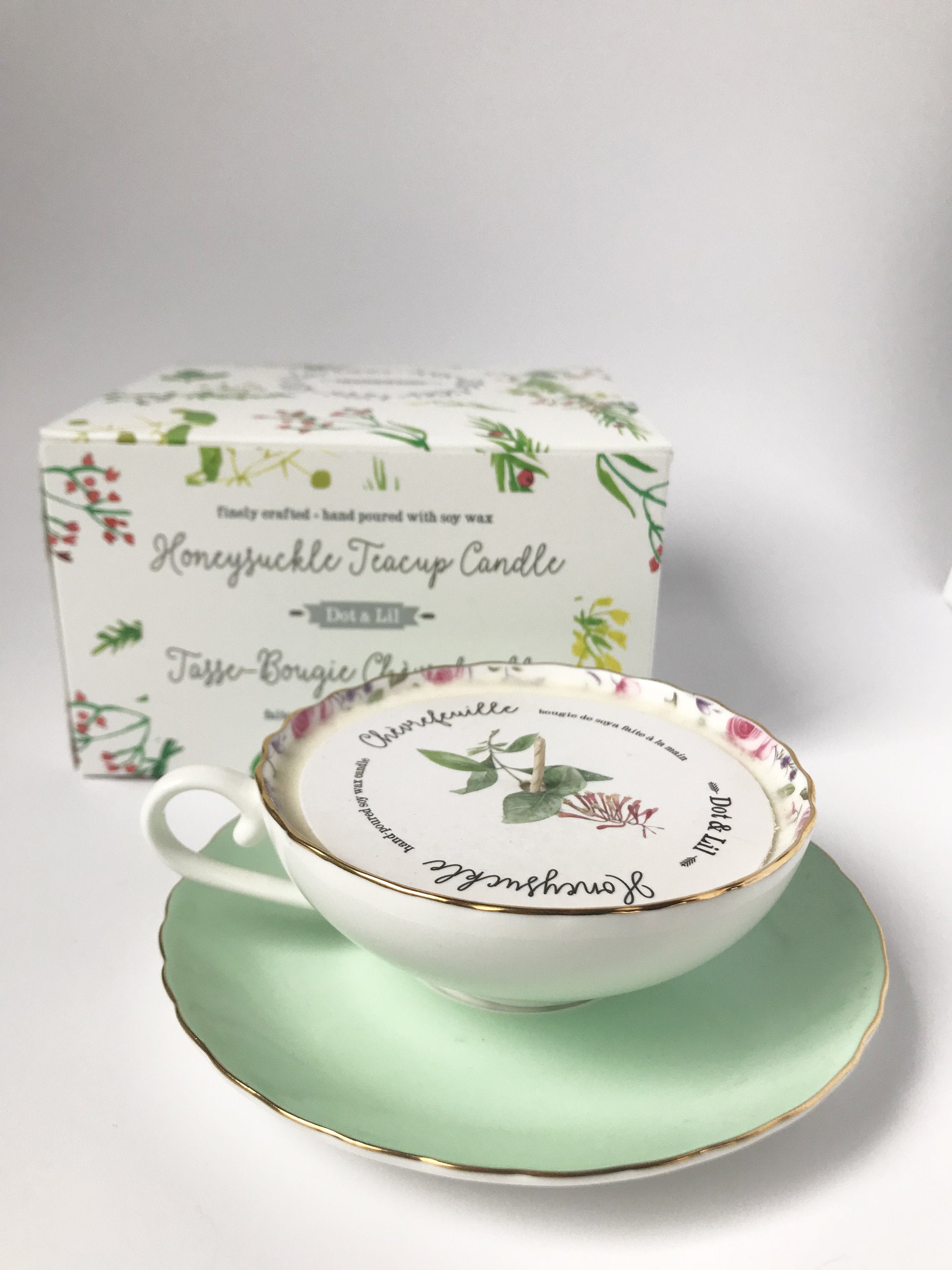 honeysuckle teacup candle