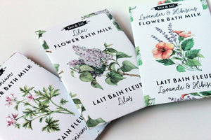 vintage flower milk baths