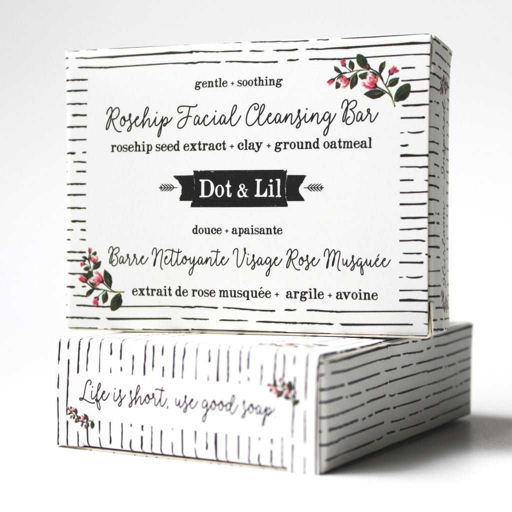 rosehip facial cleansing bar