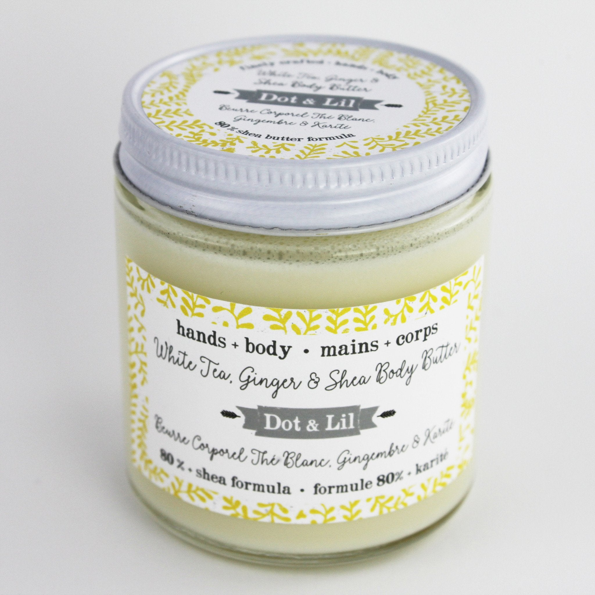 white tea ginger & shea body butter