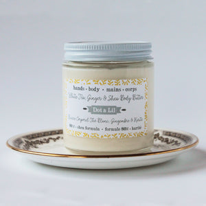 white tea, ginger & shea body butter