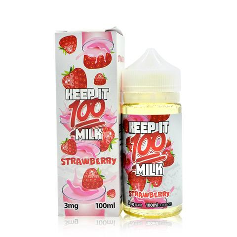 Keep it 100 - Strawberry Milk 100ml