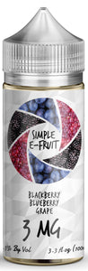 Simple E-Fruit Blackberry Blueberry Grape  100ml
