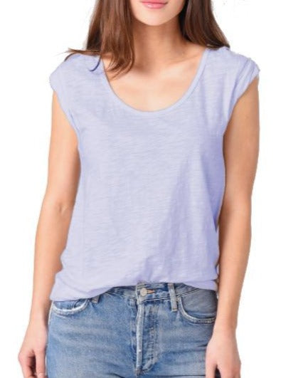 Dylan Slub Cotton Rolled Sleeve Tee [6 colors]