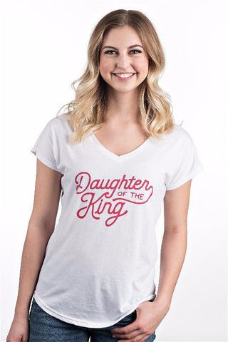 Womens Daughter Of The King V-Neck Tee