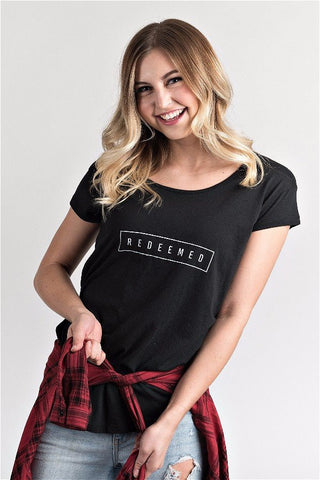 Womens Redeemed Scoop Neck Tee