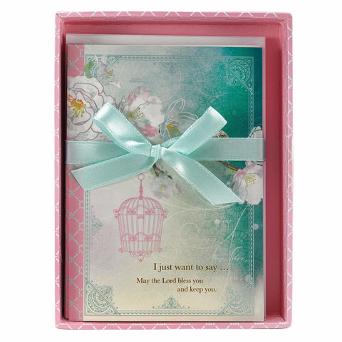 """Cherry Blossoms"" Boxed Notecards - Numbers 6:24"