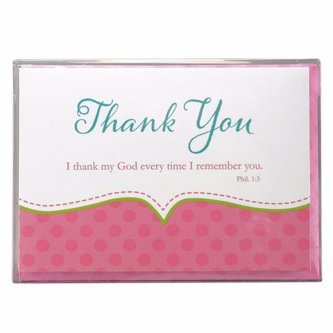 Thank you Cards For Baby Girl Shower - Philippians 1:3