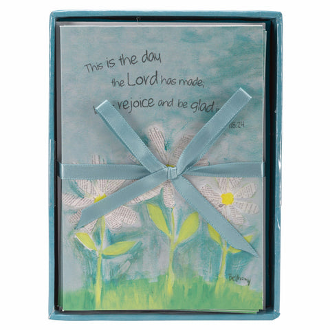 """Petals of Praise With Daisies"" Boxed Notecards - Psalm 118:24"