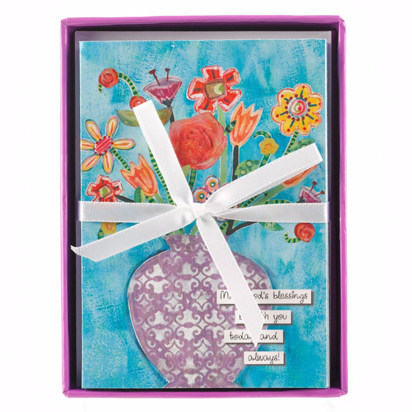 """Floral Blessings"" Boxed Cards"