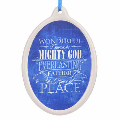 """He Shall Be Called"" Porcelain Christmas Ornament"