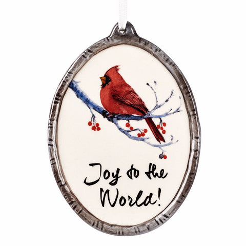 Ornament - Cardinal Joy to the World