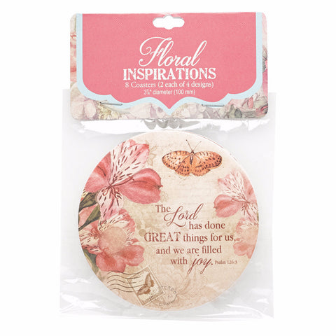 Paper Coaster Set of 8 - Floral Range