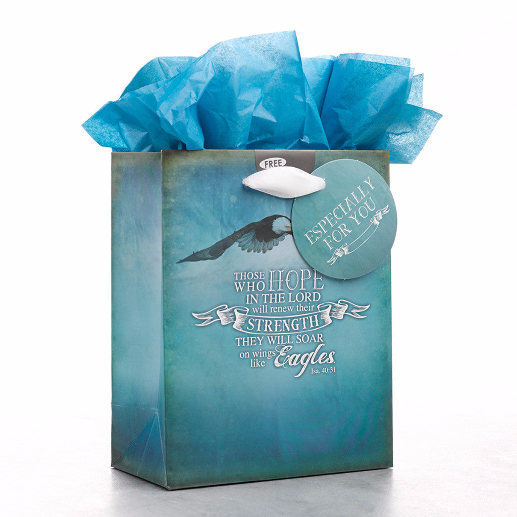 "Small Gift Bag ""On Wings Like Eagles"" - Isaiah 40:31"