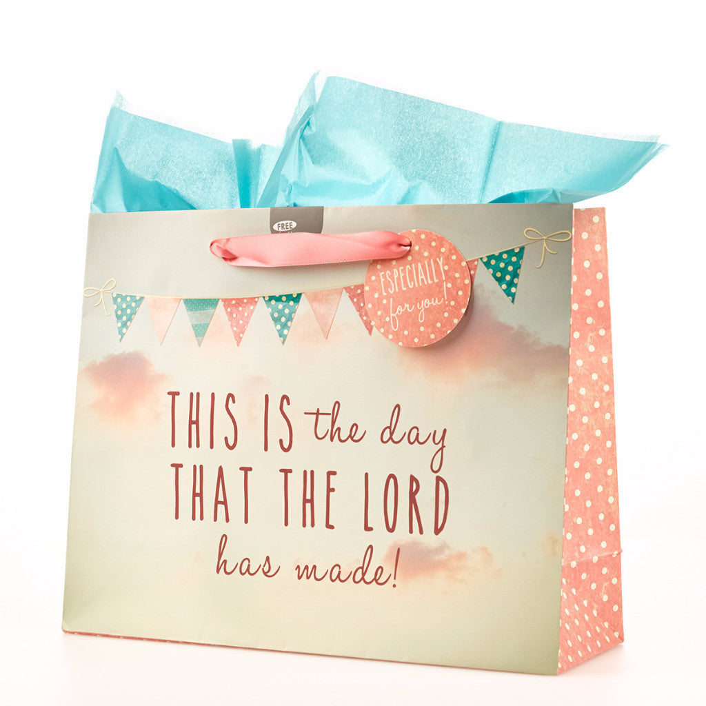 "Large Gift Bag ""This is the Day"" - Psalm 118:24"