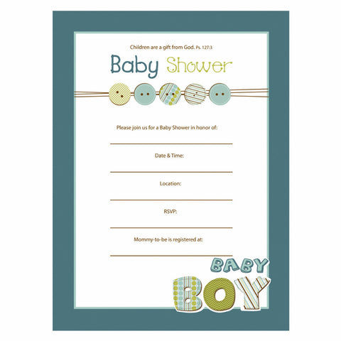 Baby Shower Invitation Boy - Psalm 127:3
