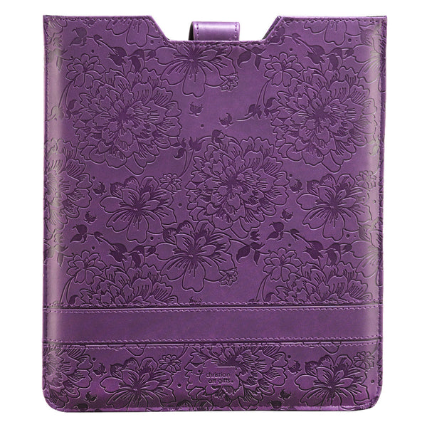 Purple Inspirational Tablet Case / Sleeve - Philippians 4:13