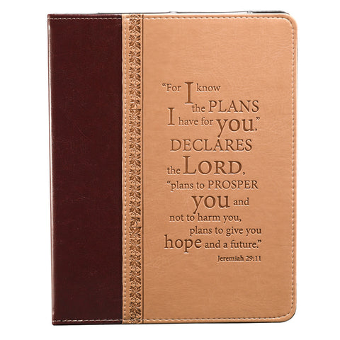 """I Know the Plans"" Two-tone Inspirational Tablet Case / Cover - Jeremiah 29:11"