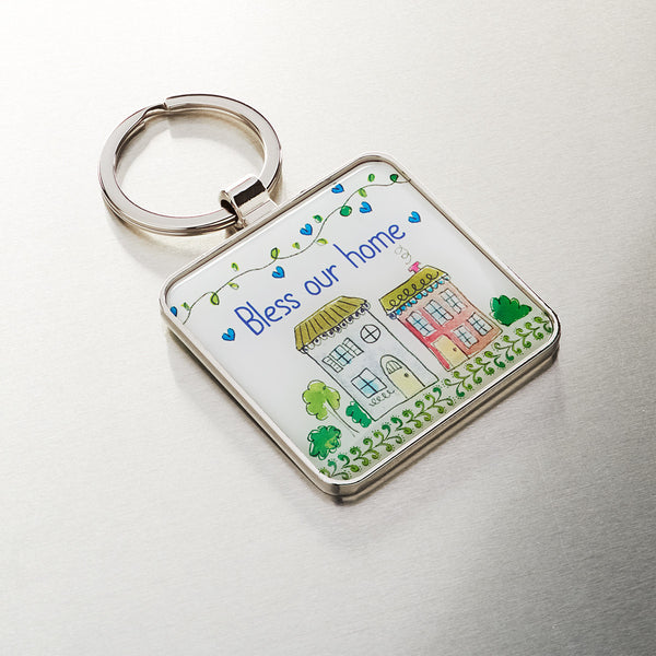 Keyring Epoxy Bless Home Joshua 24:15 - Pack of 3