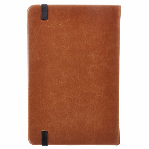 Lamentations 3:22 Fauxleather Notebook in Tan Brown
