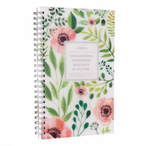 Wire Bound Notebook Everything Beautiful Ecclesiastes 3:11 - Out of Stock until 1/26
