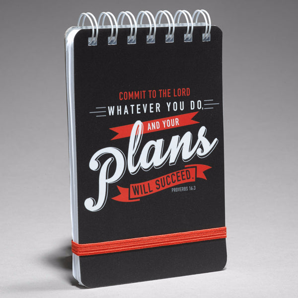 """Commit Your Plans to the Lord"" Notepad - Proverbs 16:3"