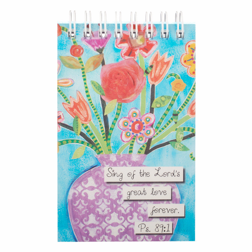 """Floral Blessings"" Notepad - Psalm 89:1"