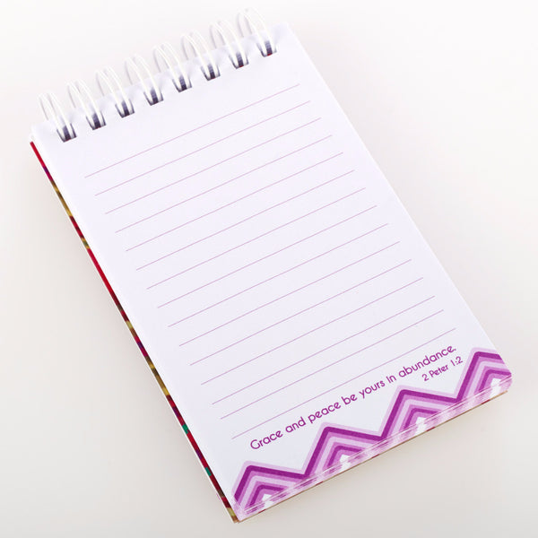"""Chevron Chic"" Notepad - 2 Peter 1:2"