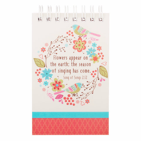 """Birth of Spring"" Notepad - Song of Solomon 2:12"