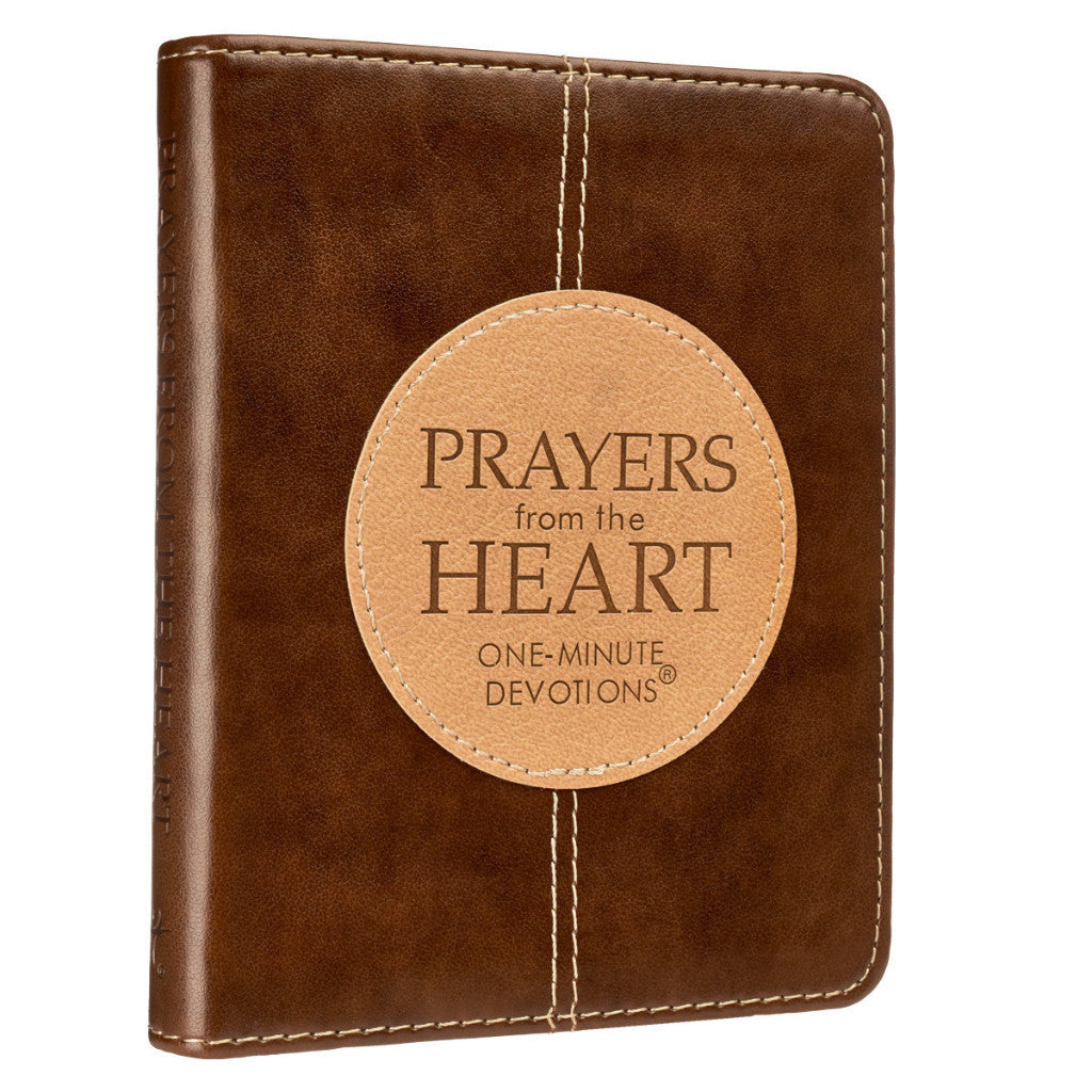 One-Minute Devotions: Prayers From The Heart Devotions (LuxLeather Edition)