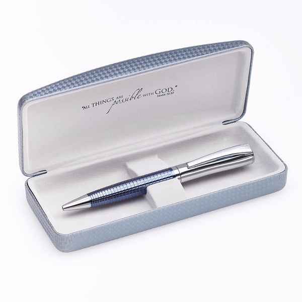 Fine Oyster Gray Embossed Writing Pen with Cross