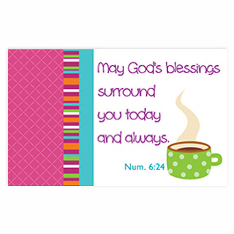 """God's blessings"" Pass-Around Cards"