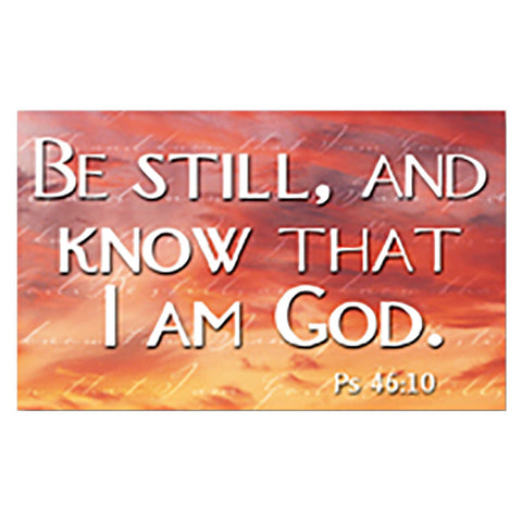 """Be Still and Know"" Pass-Around Cards"