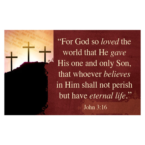 """John 3:16"" Pass Around Card"