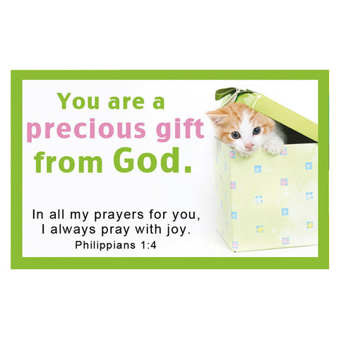 """You Are a Precious Gift"" Pass Around Cards"