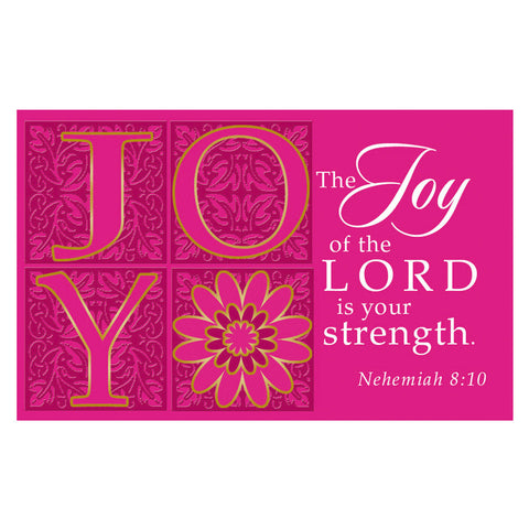 """Joy"" (Pink) Pass-Around Card"