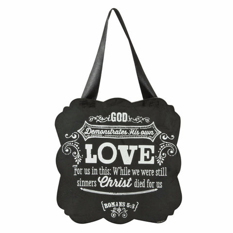 Wooden Hanging Plaque - Chalkboard Collection - Love
