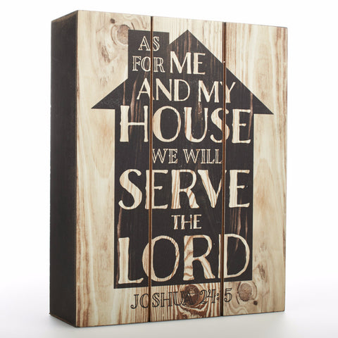 "Wall Plaque - ""As For Me and My House"""