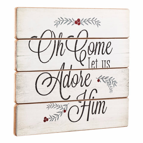 Wall Plaque - Oh Come Let Us Adore Him