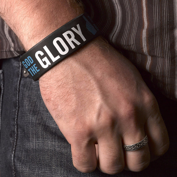 Black Wristband Glory 1 COR 10:31