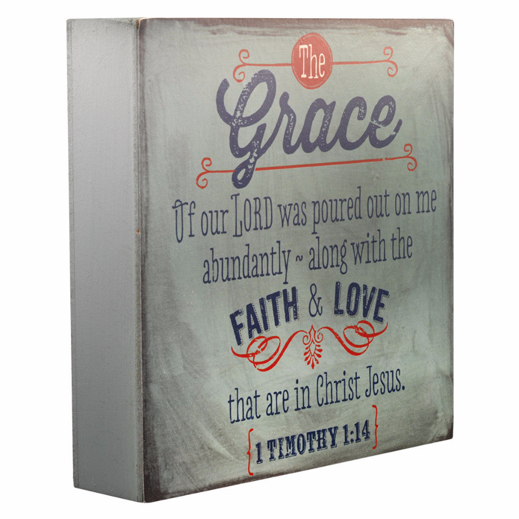 Wooden Wall Decor Plaque - Retro Collection - Grace