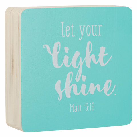 Small Decor Block - Let Your Light Shine