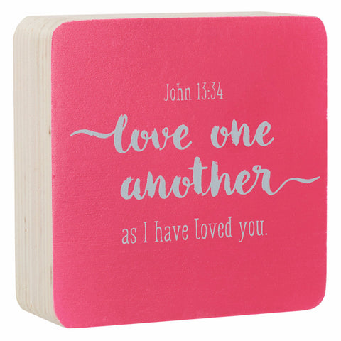 Small Decor Block - Love One Another