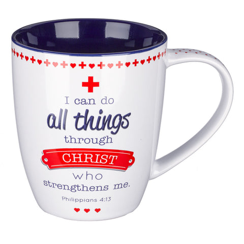 Blessings for Nurses Inspirational Mug - Philippians 4:13