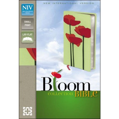 NIV, Bloom Collection Bible, Compact, Imitation Leather, Green/Red, Red Letter Edition