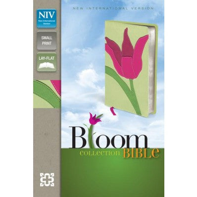 NIV, Bloom Collection Bible, Compact, Imitation Leather, Red/Green, Red Letter Edition