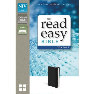 NIV, ReadEasy Bible, Compact, Imitation Leather, Duo-Tone Black, Red Letter Edition
