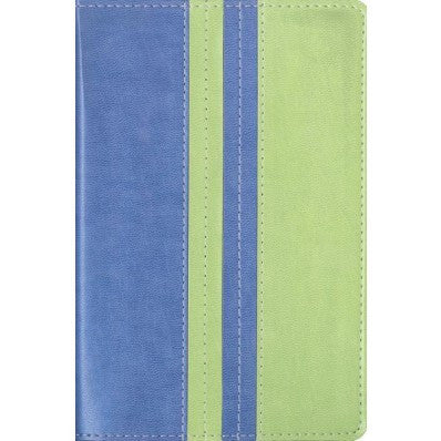 NIV, Thinline Bible, Compact, Imitation Leather, Blue/Green, Red Letter Edition