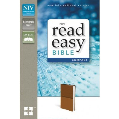 NIV, ReadEasy Bible, Compact, Imitation Leather, Tan, Red Letter Edition