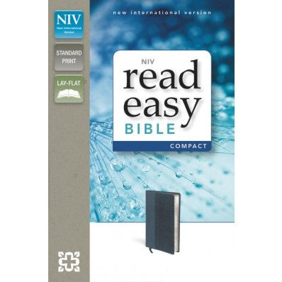 NIV, ReadEasy Bible, Compact, Imitation Leather, Slate Blue, Red Letter Edition